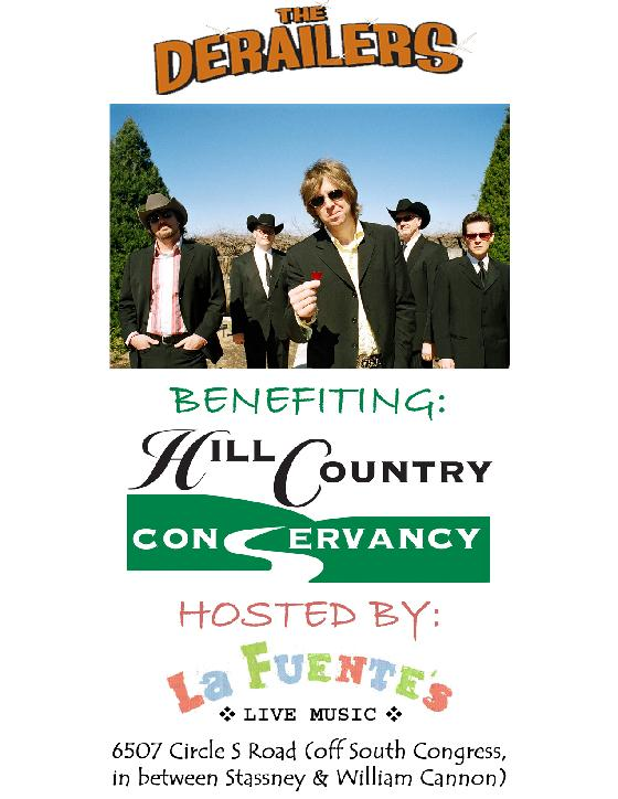 The Derailers Hill Country Conservancy Fundraiser at La Fuentes Austin Valentines Night Feb 14